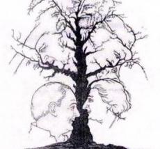 Baum mit versteckten Gesichtern